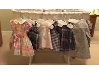 Designer dresses; Bonpoint, Ralph Lauren, Tommy Hilfiger, White Company, 3-9month