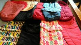Selection of pram, pushchair cosy toea, footmuffs