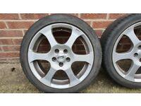 4 CMS 16 inch alloy wheels from Skoda Fabia VRS MK1