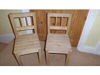 2 Wooden children seized chairs