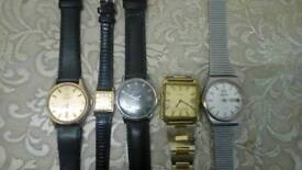 2 omega watches and rw roamer, tissot and jaguar watch.