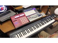 M-Audio 88 keystation + Stand , Seat and pedal