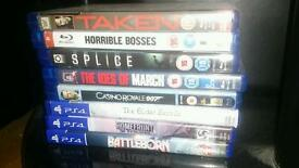 Ps4 games and blurays. Can deliver locally