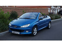 Peugeot 206 CC 1.6 Convertible (2005/05 Reg) + Genuine 67K Miles + Lady Owner + High Spec + Hardtop