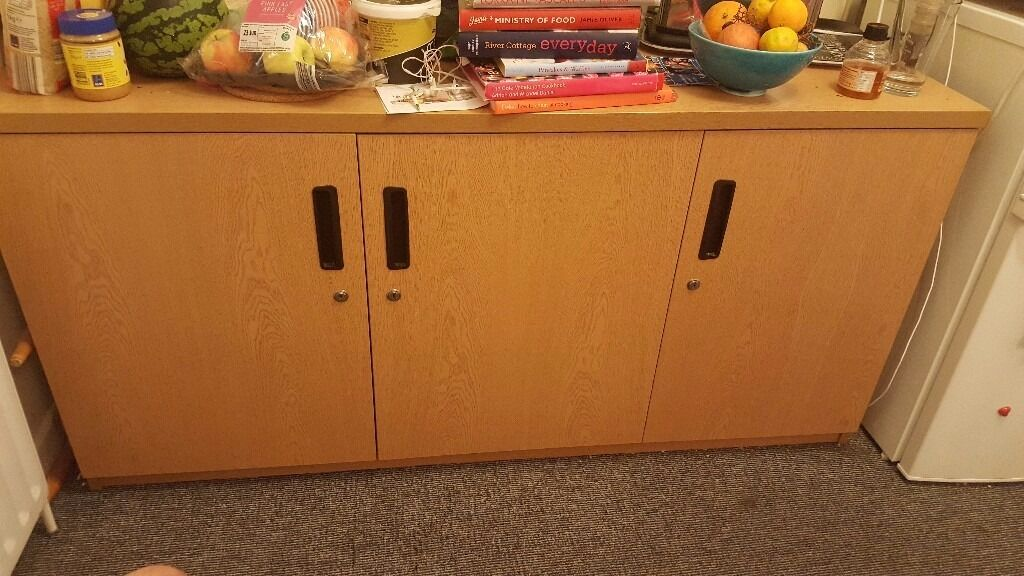 Office Storage Cupboards with 3 doorsin Cambridge, CambridgeshireGumtree - Size 1.50m L X 0.52m W X 0.74m H Price £25 00 Buyer collect