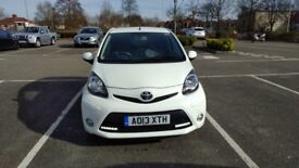 Toyota Aygo 1.0 VVT-Fire 5Dr 2013 White 30000 miles 1 previous keeper £0 ROAD TAX