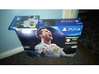 Ps4 slim 1 month old. All boxed with fifa 18