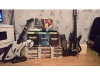 Xbox , guitars , drums , microphones games