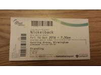 2 Tickets for Nickelback Birmingham 14/10/2016