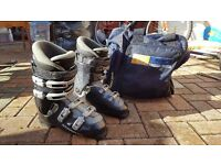 Ski Boots (Men UK 10) - Solomon Evolution 7.0 (used once). Carry bag included