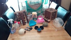 Hamster cage and all accessories