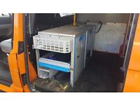 Van Racking heavy duty metal shelving VW T5 Ford Transit etc