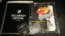 Killarney crystal photo frame brand new very heavy