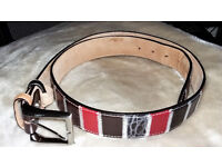 Patchwork Leather Belt by Robert Charles 36 -39 (92 - 100)