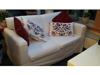 Fabric 2 seater sofa, ikea