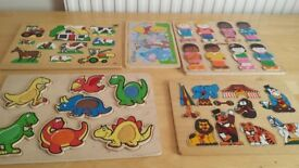 5 wooden puzzles