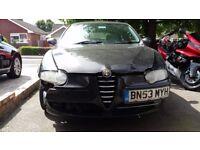 Alfa Romeo 147 1.9 JTD 16v 140hp 6spd No MOT, spares or repairs