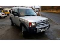 Land Rover Discovery 3 SE manual satnav leather D4 lights tinted windows low tax bracket long MOT