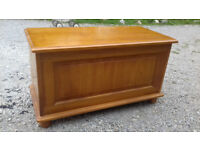 Pine blanket box - Lovely condition - 86cm wide x 41cm deep x 48cm high £20