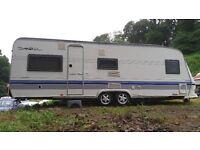Hobby Caravan twin axle 5 berth