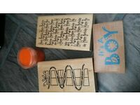 wooden stamps craft card making
