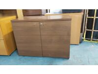 Cylindrical knob Walnut Office Credenza/Cupboard/cabinet storage unit