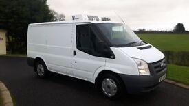 White ford transit 85 t280 fridge van , long psv , 113k genuine miles 1 owner, full service history