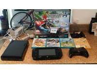 Wii U 32gb boxed, 5 games, pro controller, mario zelda