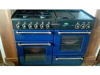 Cooker Rangemaster 110 Gas Hob Double oven, Grill, Flat griddle and Plate warmer