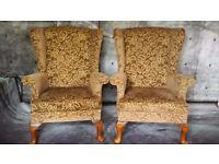 2 retro vintage parker knoll armchair