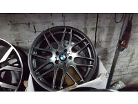"""Bmw m3 csl 1m m3 competition pack style alloy wheels staggered 19"""" m sport alloys 5120 fits most bmw"""