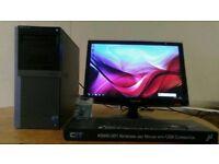 SUPER FAST SSD Dell Optiplex Business 960 Desktop PC Computer Samsung Syncmaster 22 inch HD