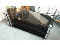 Glass TV Entertainment stand