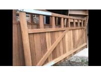 Solid oak gates