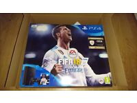 Brand new still sealed in box PS4, 500gb console with Fifa 18