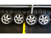 Ford Genuine 16 alloy wheels + 4 x tyres 195 45 16
