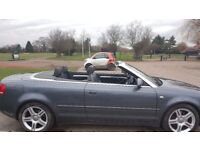 Audi A4 sport fsi convertible .Great condition Low mileage 60000 miles , M.O.T