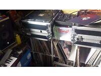 Technics 1210 MK2 Turntables + Mixer, Flightcases & Needles