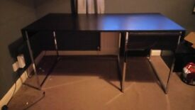 Large black desk