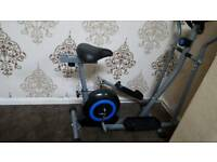 exersice bike with cross trainer