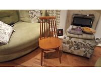 Vintage Retro Ercol Style Windsor Style Country Cottage Style Pine Spindle Dining Chair Bedside