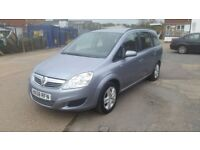 Vauxhall zafira 1.6 petrol manual low milage only63100