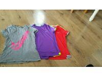 3× Nike t-shirt, size 8-10Y