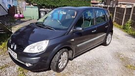 Renault Scenic MPV 1.6 petrol with a great spec, 76000 miles, 08 reg, grey, Cat. C