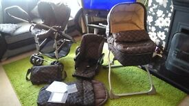Mamas and Papas Pram with Carrycot and Accessories