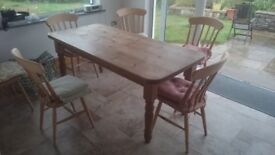 Farmhouse style solid pine table