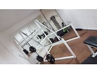 SQUAT RACK COMMERCIAL STANDARD £200 (no offers)