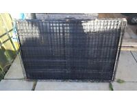 "Large Fold Flat Dog/Animal Cage 42"" x 29"""