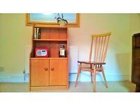Vintage mid century 'English Maid' kitchen, living room, hallway dresser, wooden cabinet sideboard