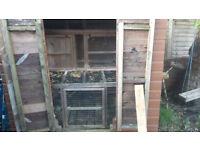 Rabbit Hutch Winter Enclosure